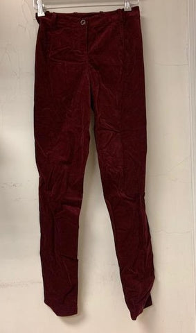 Burgundy Velvet Stretch Pant- Sample Sale