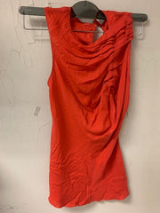 Coral One Shoulder Pleat Tank - Sample Sale