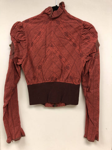 Jacquard with Knit Sleeve Top - Sample Sale