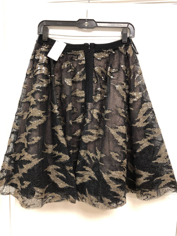 Camouflage Sequin Flare Skirt - Sample Sale