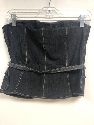 Denim Bustier - Sample Sale