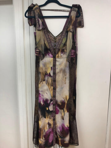 Chagall Ribbon Sleeve Trumpet Dress - Sample Sale