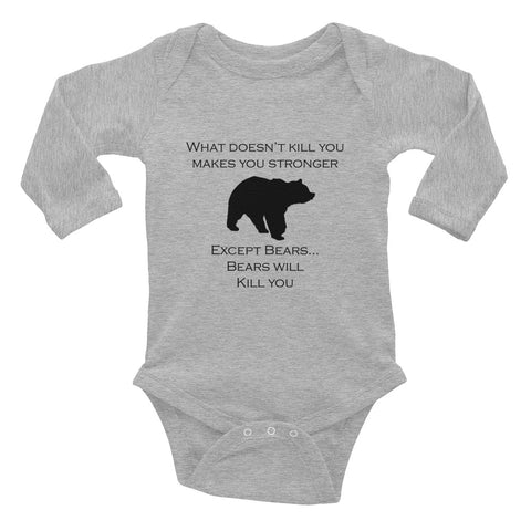 What doesn't kill you makes you stronger baby Onsie