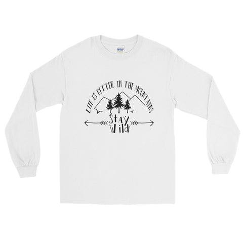 Long Sleeve T-Shirt - Unisex - Life is better in the Mountains
