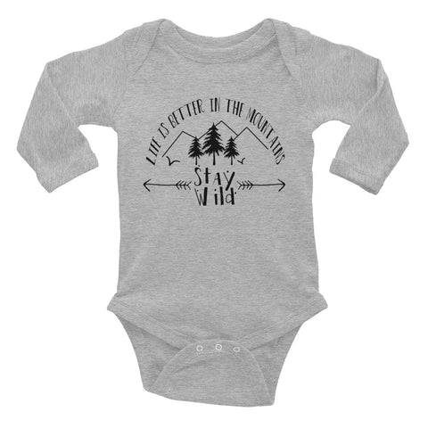 Stay Wild Onsie - Infant Long Sleeve Bodysuit