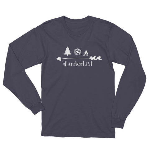 Wanderlust Long Sleeve T-Shirt 100% made in the USA
