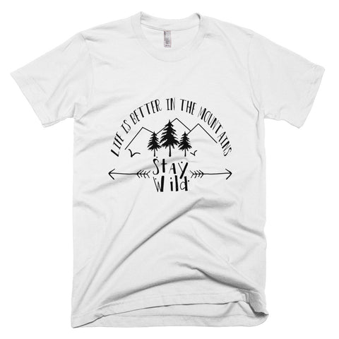 Short sleeve men's t-shirt Life is better in the Mountains MADE IN THE USA