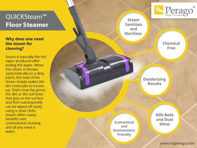 Why does one need the steam for cleaning?