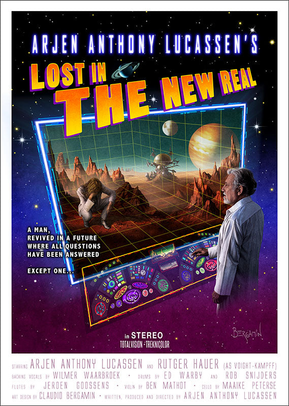 Arjen Lucassen - Lost in the New Real. Cover Poster