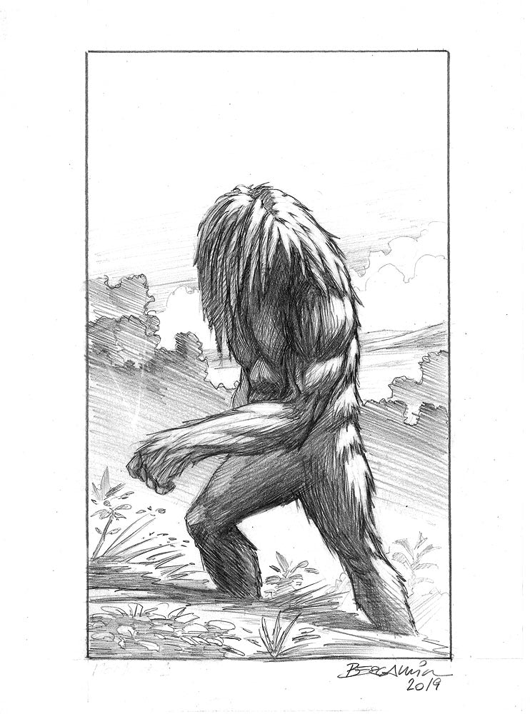 Momo - The Missouri Monster Sketch #1