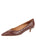 Womens Acorn Croc Leather Born Pointed Toe Kitten Heel