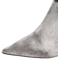 Weston Pointed Toe Bootie - Aluminum Haircalf
