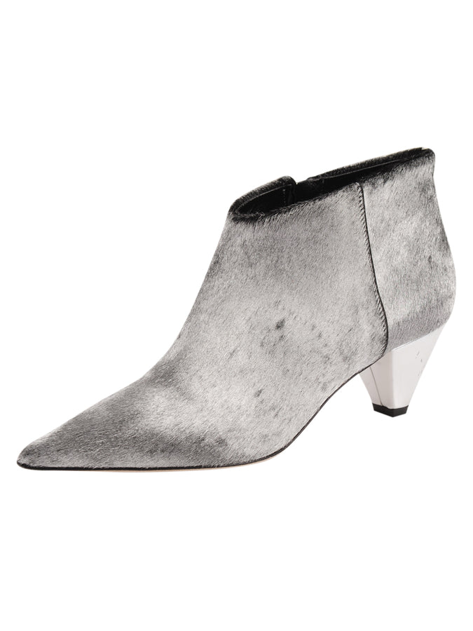 Womens Aluminum Haircalf Weston Pointed Toe Bootie