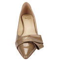 Womens Beige Cosmic Patent Bliss Kitten Heel 4