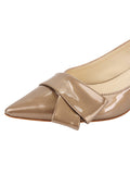Womens Beige Cosmic Patent Bliss Kitten Heel 6