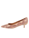 Womens Beige Pearl Deluxe Pointed Toe Kitten Heel 7