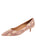 Womens Beige Pearl Deluxe Pointed Toe Kitten Heel