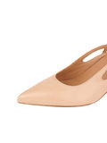Womens Biscuit Calf Sadetta Pointed Toe Slingback 6