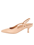 Womens Biscuit Calf Sadetta Pointed Toe Slingback 7