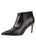 Womens Black Leather Gal Bootie