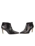 Womens Black Leather Gal Bootie 5