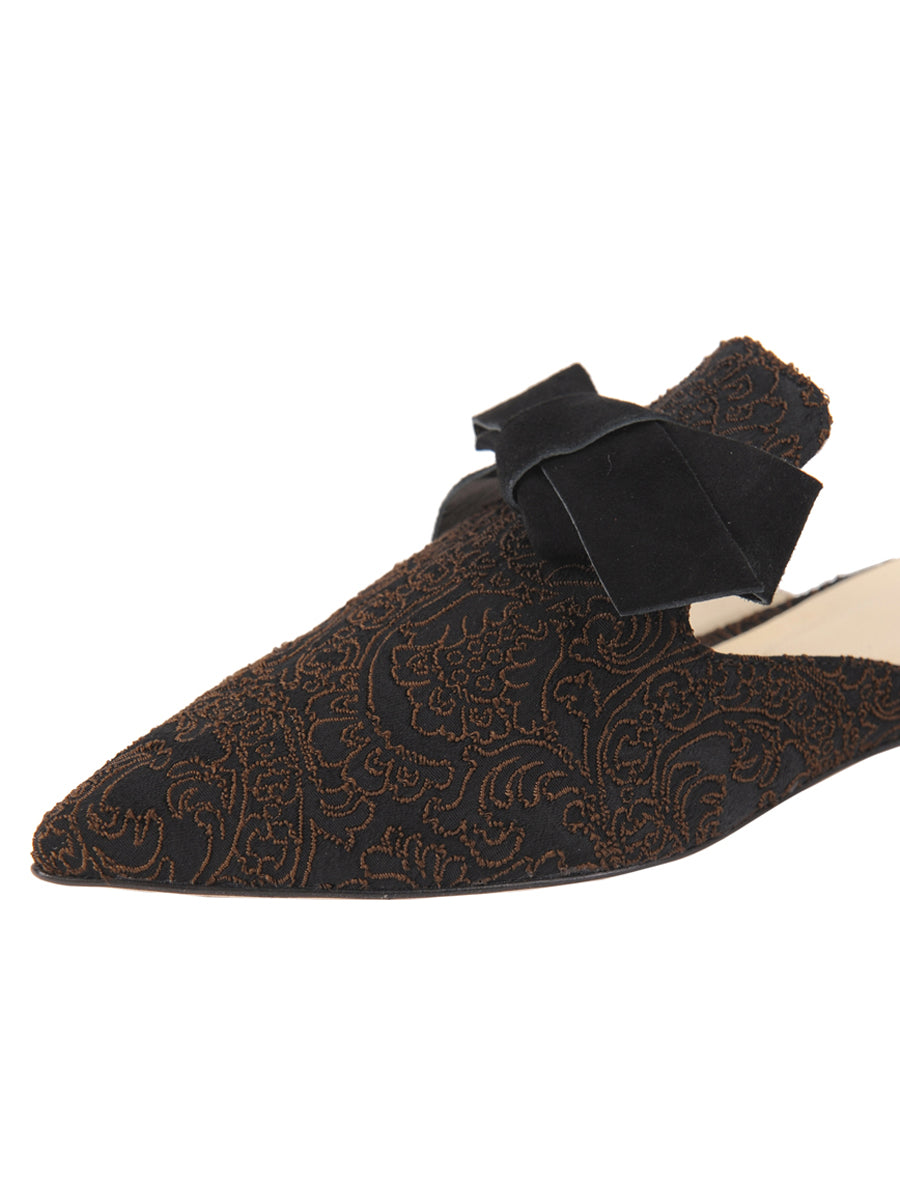 Womens Black Silk Paisley Milano 6