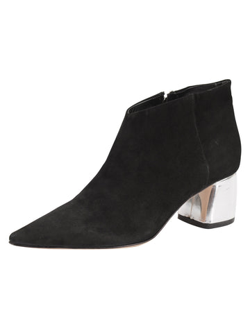 Whistle Pointed Toe Bootie - Black Suede