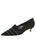Womens Black Suede Bayley Pointed Toe Kitten Heel