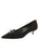 Womens Black Suede Brusca Pointed Toe Kitten Heel