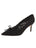Womens Black Suede Eris Pointed Toe Pump