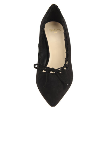 Womens Black Suede Eris Pointed Toe Pump 4 Alternate View