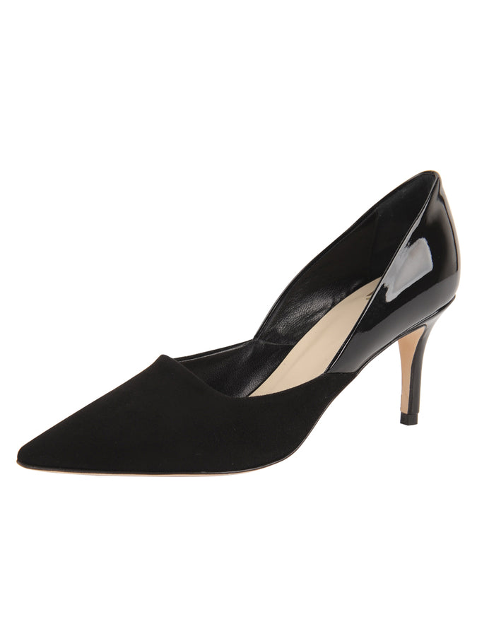Womens Black Suede Esty Pointed Toe Pump