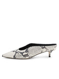 Womens Black/White Snake Dorn Mule 7