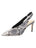 Womens Black/White Snake Kaysha Pointed Toe Pump
