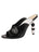 Womens Black/White Penelope Sandal
