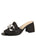 Womens Black Getty Block Heeled Sandal