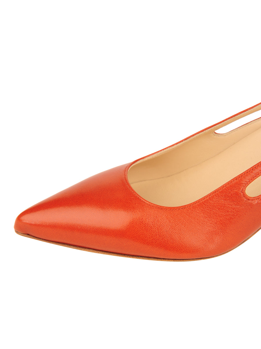 Womens Brandy Sadetta Pointed Toe Slingback 6