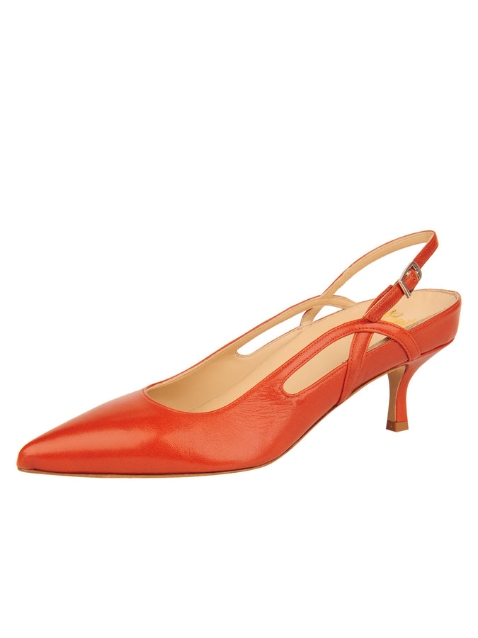 Womens Brandy Sadetta Pointed Toe Slingback