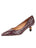 Womens Brown  Croc Ilaria Pointed Toe Kitten Heel