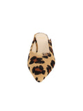 Womens Cheetah Haircalf Berta Kitten Heel Mule 4