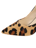 Womens Cheetah Haircalf Kimberly Pointed Toe Pump 6