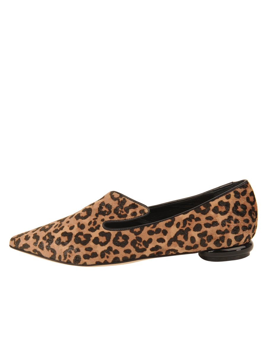 Womens Cheetah Max Pointed Toe Flat 7