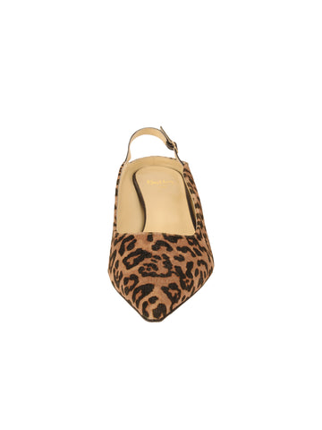 Womens Cheetah Brook Slingback Kitten Heel 4 Alternate View