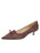 Womens Dark Brown Suede Brusca Pointed Toe Kitten Heel