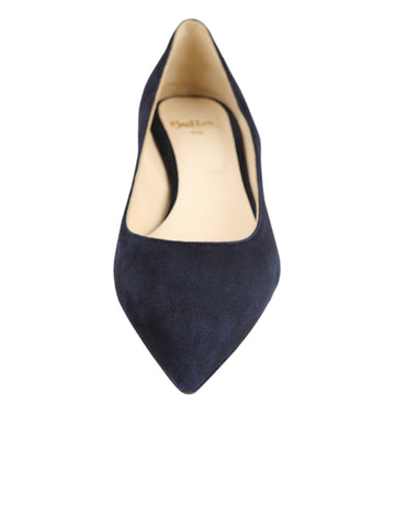 Womens Dark Navy Suede Born Pointed Toe Kitten Heel 4 Alternate View