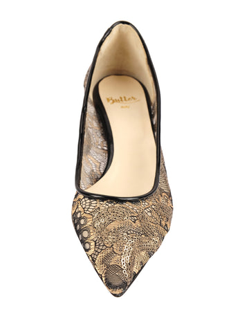 Womens Gold Exotic Lace Blair 4 Alternate View