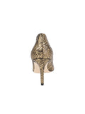 Womens Gold Snake Emmy Pointed Toe Pump 2