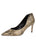 Womens Gold Snake Emmy Pointed Toe Pump