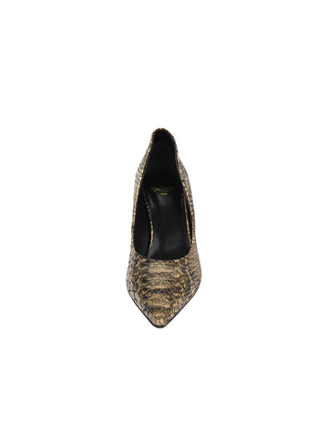 Womens Gold Snake Emmy Pointed Toe Pump 4 Alternate View