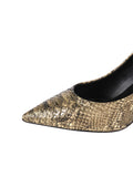 Womens Gold Snake Emmy Pointed Toe Pump 6